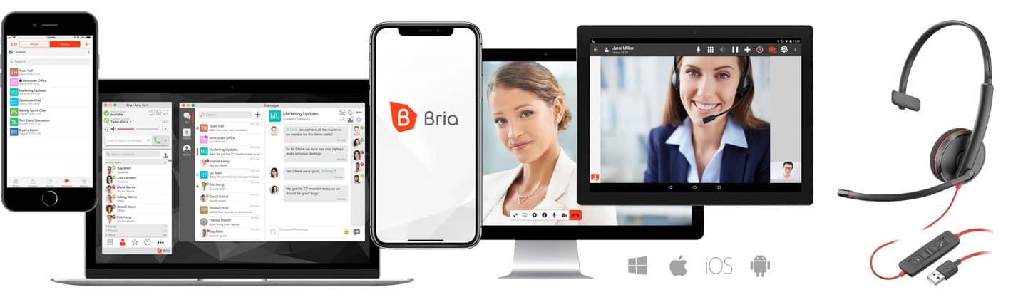 Bria Enterprise Softphone and Plantronics