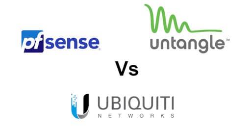 pfsense vs untangled vs ubiquiti